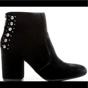 GUESS Black Velvet Booties Size 6